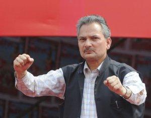 """Strongman"": Akhilesh Upadhyay wrote about Baburam Bhattarai's tendencies (picture: nepaliblogger.com)"