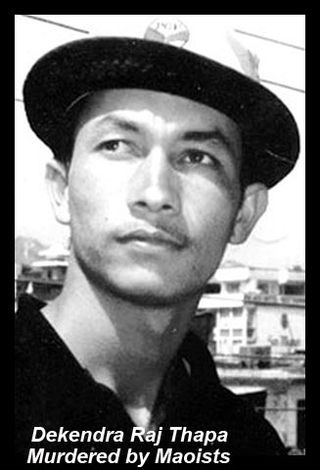 Dekendra Thapa, a journalist murdered by Maoists during their war (picture: mikeldunham.blogs.com)