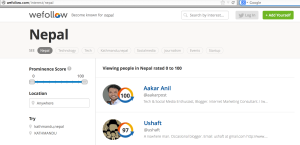 We Follow: Most influential twitter users about Nepal